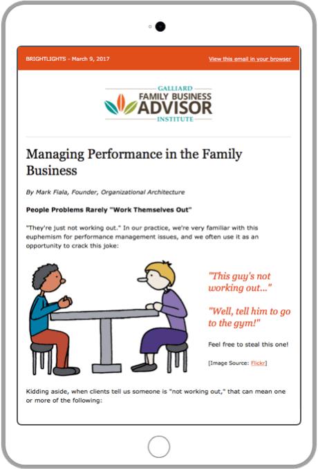 Business Consultant Newsletter
